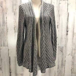 Eileen Fisher Gray Open Weave Cardigan Sweater